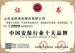 中国安保行业十大品牌
